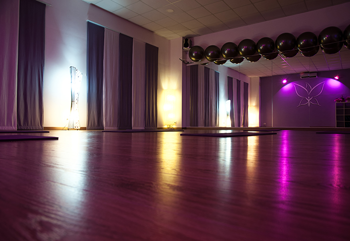 Sala attività: pilates, yoga, ginnastica posturale